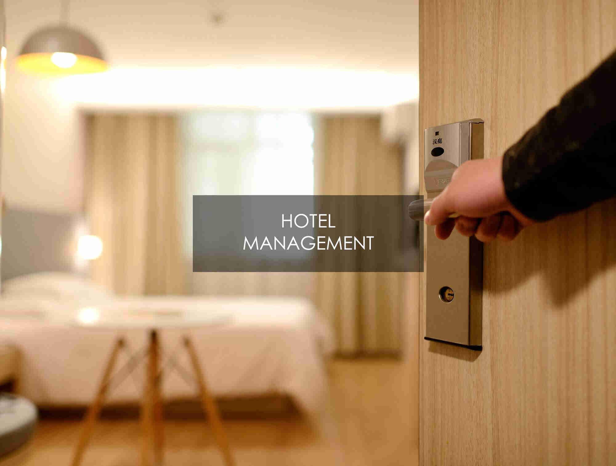 HOTEL MANAGEMENT ENTRANCE